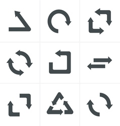 Simple flat design recycle symbols vector image