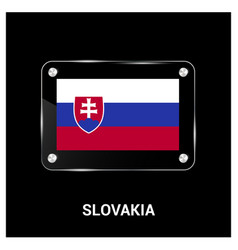 slovakia flags design vector image