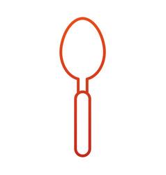 Spoon cutlery silverware kitchen restaurant vector