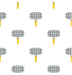 Steel grid for grill pattern seamless vector
