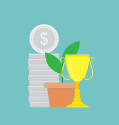 successful finance vector image