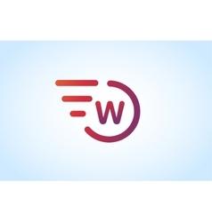 W letter logo monogram icon vector image