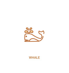 Whale concept 2 colored icon simple line element vector