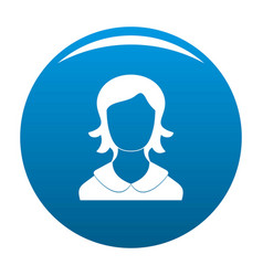 woman user icon blue vector image