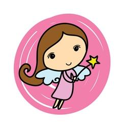 Cute angel cartoon vector