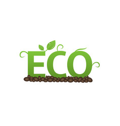 eco label set vector image