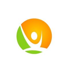 active people sport logo vector image vector image