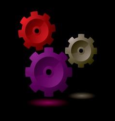 cog symbol vector image vector image