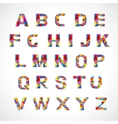 Creative colorful alphabet set vector image vector image