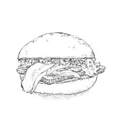 Hand drawn humberger vector image