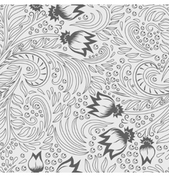 Khokhloma decorated seamless texture line art vector image vector image