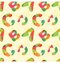 Colorful ABC Seamless Pattern vector image