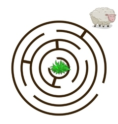 Game labyrinth find a way sheep vector image vector image
