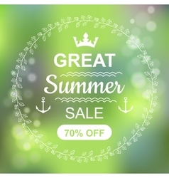 Great Summer Sale Banner vector image vector image