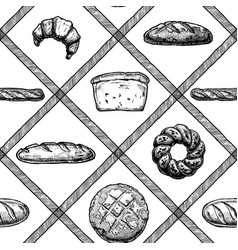 hand drawn bakery products vector image