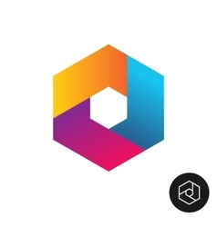 Hex tech logo abstract colorful style vector image vector image