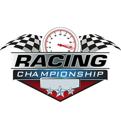 Racing Championship icon vector image