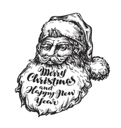 Santa Claus Merry Christmas and Happy New vector image vector image