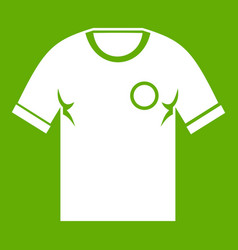 soccer shirt icon green vector image vector image