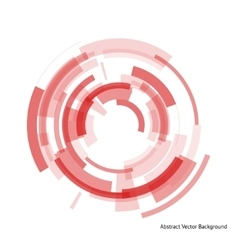 abstract red rings vector image vector image
