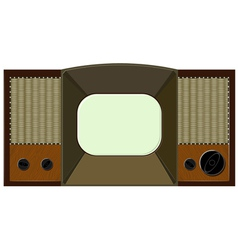 artwork will old tv vector image