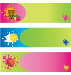 banner vector image vector image