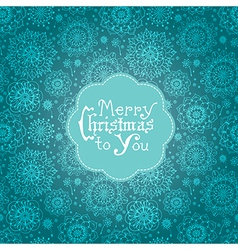 Beautiful card with flowers and Christmas vector image vector image
