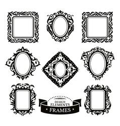 Set of vintage baroque frames vector image vector image