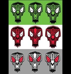 tribal scary halloween skull totem mascot vector image