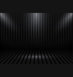 3d empty studio room show booth for designers vector