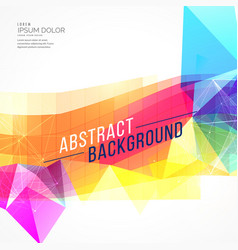 Abstract colorful poly and mosaic shape background vector
