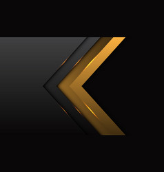 abstract gold arrow direction with grey metallic vector image