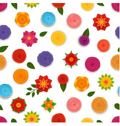 Abstract spring flowers seamless pattern seamless vector