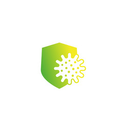 antibacterial protection shield icon vector image