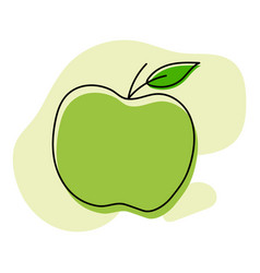 apple icon in linear style vector image