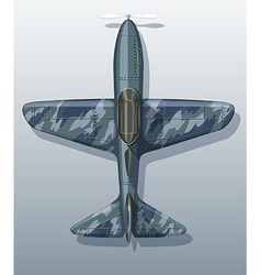 Army plane on gray vector