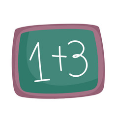 Back to school chalkboard with math examples vector