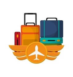 Baggage to travel design vector