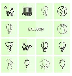 Balloon icons vector
