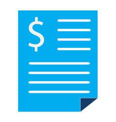 Bank statement sign bank statement icon on white vector
