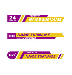 banner tv icon vector image