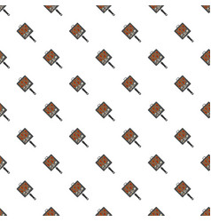Bbq grill griddle pattern seamless vector