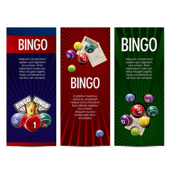 Bingo lottery lotto game banners set vector