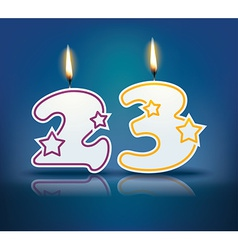 Birthday candle number 23 vector