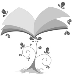 book plant vector image