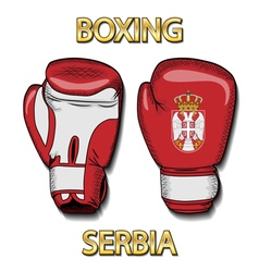 Boxing gloves-Serbia vector