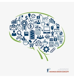 brain icon business concept vector image