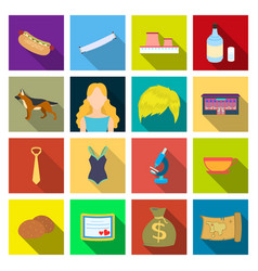 business cafe hobby and other web icon in flat vector image
