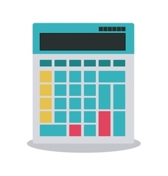 Calculator tool machine design vector