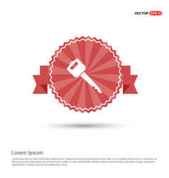 car key icon - red ribbon banner vector image